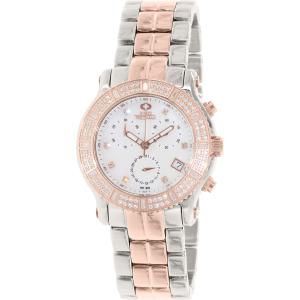 Swiss Precimax Women's Tribeca Elite SP13326 Rose Gold Stainless-Steel Swiss Chronograph Watch