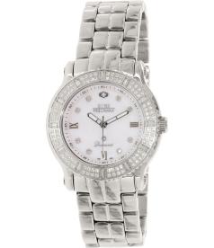 Swiss Precimax Women's Tribeca Diamond SP13327 Mother-Of-Pearl Stainless-Steel Swiss Quartz Watch