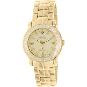 Swiss Precimax Women's Tribeca Diamond SP13329 Gold Stainless-Steel Swiss Quartz Watch