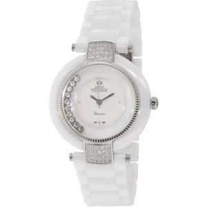 Swiss Precimax Women's Allure Ceramic SP13355 White Ceramic Swiss Quartz Watch