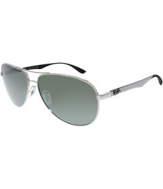 Ray-Ban Men's Mirrored Tech RB8313-003/40-61 Silver Aviator Sunglasses