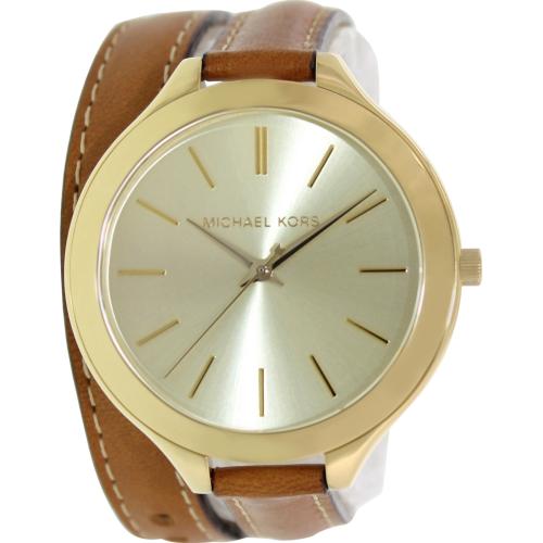 f128bfe2bebd ... UPC 691464891084 product image for Michael Kors Women s Runway MK2256  Gold Leather Analog Quartz Watch ...