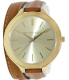 Michael Kors Women's Runway MK2256 Brown Leather Quartz Watch - Main Image Swatch