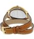 Michael Kors Women's Runway MK2256 Brown Leather Quartz Watch - Back Image Swatch