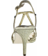 Nina Women's Baylyn Low Top Satin Sandal - Back Image Swatch