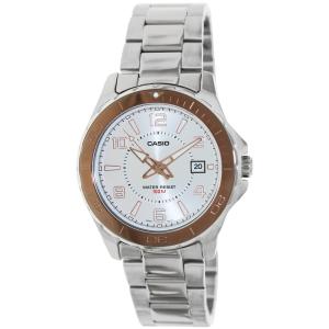 Casio Men's MTD1074D-7AV Silver Stainless-Steel Analog Quartz Watch