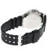 Casio Men's MTD1075-7AV Black Plastic Quartz Watch - Back Image Swatch