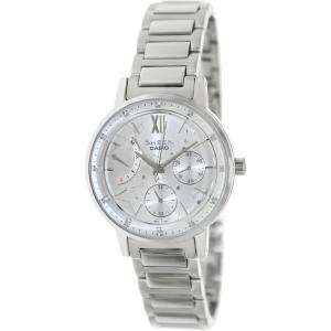 Casio Women's Sheen SHE3028D-7A Silver Stainless-Steel Quartz Watch