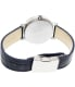 Casio Women's Sheen SHE3028L-2A Black Leather Quartz Watch - Back Image Swatch