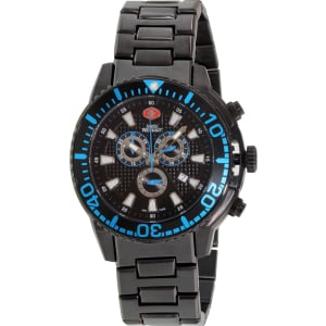 Swiss Precimax Men's Pulse Pro SP13103 Black Stainless-Steel Swiss Chronograph Watch