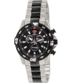Swiss Precimax Men's Falcon Pro SP13113 Black Stainless-Steel Swiss Chronograph Watch
