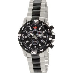 Swiss Precimax Men's Falcon Pro SP13113 Silver/Black Stainless-Steel Swiss Chronograph Watch