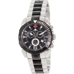 Swiss Precimax Men's Recon Pro SP13119 Silver/Black Stainless-Steel Swiss Chronograph Watch