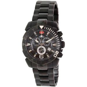 Swiss Precimax Men's Recon Pro SP13121 Black Stainless-Steel Swiss Chronograph Watch