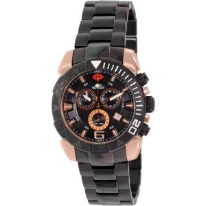 Swiss Precimax Men's Recon Pro SP13124 Black Stainless-Steel Swiss Chronograph Watch