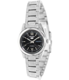 Seiko Women's 5 Automatic SYMK27K Black Stainless-Steel Automatic Watch