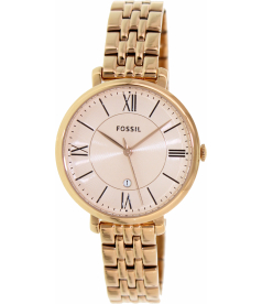 Fossil Women's Jacqueline ES3435 Rose-Gold Stainless-Steel Quartz Watch