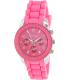 Geneva Platinum Women's 0148.SILVER.NEONPINK Pink Rubber Analog Quartz Watch - Main Image Swatch