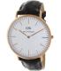 Daniel Wellington Men's York 0111DW Brown Leather Quartz Watch - Main Image Swatch