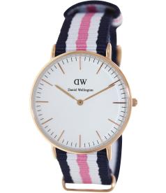 Daniel Wellington Women's Southampton 0506DW White Nylon Quartz Watch