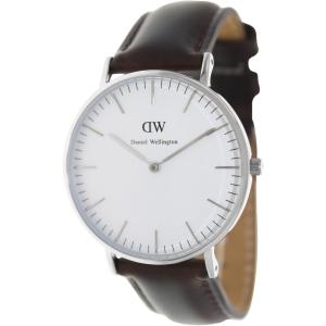 Daniel Wellington Women's Bristol 0611DW Brown Leather Quartz Watch