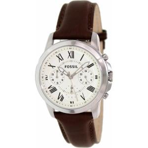 Fossil Men's Grant FS4839 Brown Leather Quartz Watch
