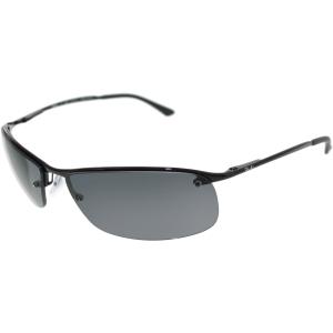 Ray-Ban Men's Polarized  RB3183-002/81-63 Black Semi-Rimless Sunglasses