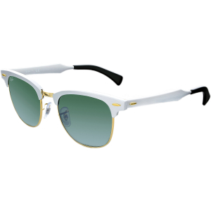 Ray-Ban Men's Clubmaster RB3507-137/40-51 Silver Semi-Rimless Sunglasses