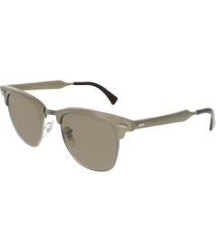 Ray-Ban Men's  RB3507-139/85-51 Brown Semi-Rimless Sunglasses
