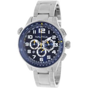 Nautica Men's Ocn 46 A34524G Silver Stainless-Steel Quartz Watch