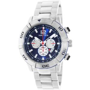 Nautica Men's Ncs 46 A36510G Silver Stainless-Steel Quartz Watch