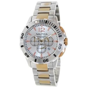Nautica Men's Bfd 101 N27525G Silver Stainless-Steel Quartz Watch