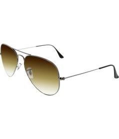 Ray-Ban Men's Gradient Aviator RB3025-004/51-58 Gunmetal Aviator Sunglasses