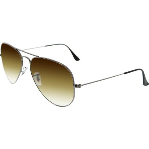 Ray-Ban Men's Gradient Aviator RB3025-004/51-58 Silver Sunglasses