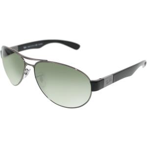 Ray-Ban Men's Polarized  RB3509-004/9A-63 Gunmetal Oval Sunglasses