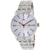 Tommy Hilfiger Men's George 1710327 Silver Stainless-Steel Analog Quartz Watch