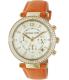 Michael Kors Women's Parker MK2279 Orange Leather Quartz Watch - Main Image Swatch