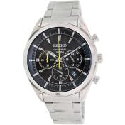 Seiko Men's SSB087 Black Stainless-Steel Quartz Watch