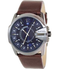 Diesel Men's Master Chief DZ1618 Blue Leather Quartz Watch