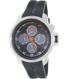 Puma Men's PU103271003 Black Rubber Analog Quartz Watch