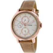 Fossil Women's Chelsey ES3358 Mother-Of-Pearl Leather Quartz Watch