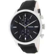 Fossil Men's Townsman FS4866 Black Leather Quartz Watch