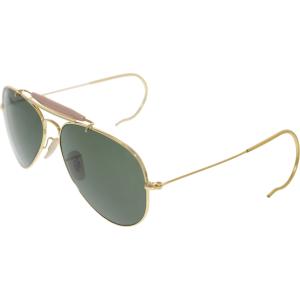 Ray-Ban Men's Outdoorsman RB3030-L0216-58 Gold Aviator Sunglasses