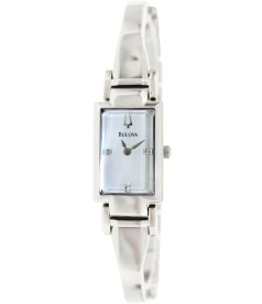 Bulova Women's Diamond 96P137 Mother-Of-Pearl Stainless-Steel Quartz Watch