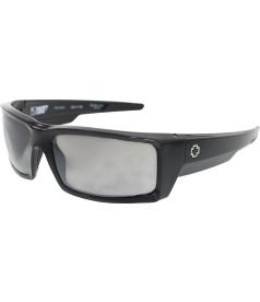 Spy Men's General 673118038832 Black Rectangle Sunglasses