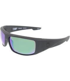 Spy Men's Polarized Logan 670939374861 Black Rectangle Sunglasses