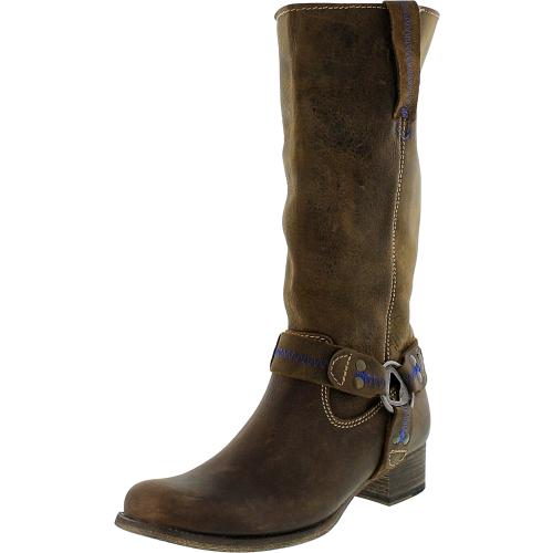 Bed Stu Women's Opal Tan Greenland Mid-Calf Leather Boot -