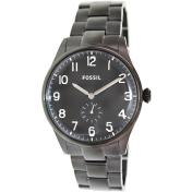 Fossil Men's Agent FS4854 Black Stainless-Steel Quartz Watch