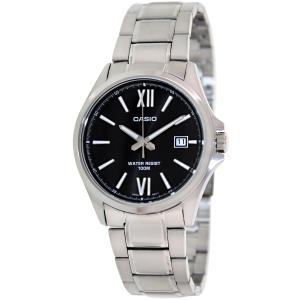 Casio Men's Classic MTP1376D-1AV Black Stainless-Steel Analog Quartz Watch