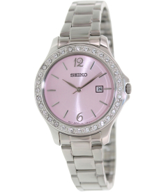 Seiko Women's Dress SXDF75 Pink Stainless-Steel Quartz Watch